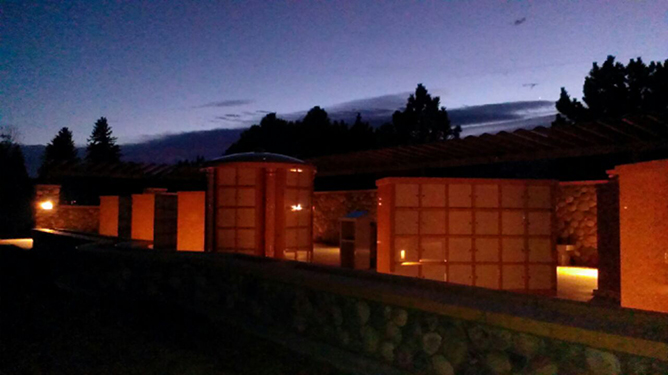 Riverside Columbarium at Night